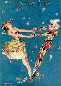 Vanity Fair Cover 'Harlequin & Columbine' February 1914