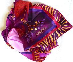 Vintage Silk Scarf TORRENTE Paris Rare High by VintageParisLuxe #vogueteam #vintageaccessories #etsygiftideas