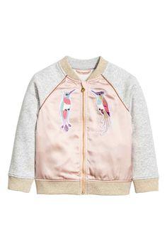 Chaqueta en tejido sudadera - Rosa empolvado - NIÑOS | H&M ES