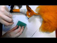 Сухое валяние: Создаем туловище, шлифовка. лисенок Фенек этап 4 - YouTube