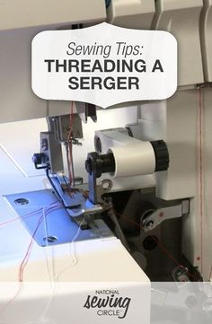 Sewing Techniques Couture How to Thread a Serger - Sewing Video - Changing threads can be tedious. Learn how to thread a serger quickly with this instructional video from National Sewing Circle. Serger Thread, Serger Sewing, Serger Stitches, Juki Serger, Janome, Sewing Notions, Sewing Hacks, Sewing Tutorials, Sewing Crafts