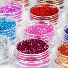 12 Color Glitter Powder Dust Nail Art Decoration Tips DIY Fashion