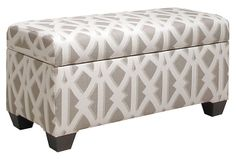 Wallace Storage Bench, Mushroom/White on OneKingsLane.com (maybe for behind couch?)