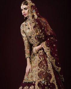 @sadafkanwal in this rich maroon ensemble from @tenadurrani's #ARougeAffair campaign shot by @ztareen