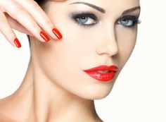 Restore the colour on your cheeks with a customized facial and a mani-pedi for AED 97 from European Nails and Face Care (Value AED – You know you want to! Red Manicure, Mani Pedi, Red Nails, Hair And Nails, Beauty Nails, Beauty Makeup, Fun Makeup, Eyeliner Techniques, Eye Photography