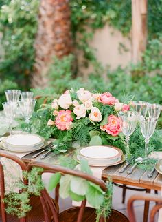 Lush bohemian garden wedding ideas