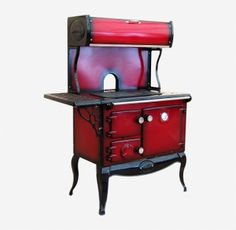 Reconditioned Stanley Errigal Claret Shaded Enamel with Plate Rack, Splash Back, Warming Oven and Side Shelves Waterford Stanley, Range Cooker, Plate Racks, Cookers, Boiler, Stove, Enamel, Shelves, Plates