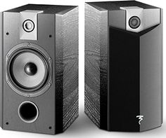 Focal Loudspeaker - Black Ash, Focal Chorus Bookshelf Loudspeaker The Epitome of a Reference-Level Compact Speaker: You Will Not Find a Better, More Neutral Bookshelf Model for the Price Polyglass Mid-Bass Driver, Inverted-D. Cool Bookshelves, Home Audio Speakers, Bookshelf Speakers, Dolby Digital, Installation Home Cinema, Bass, Compact, Audio Design