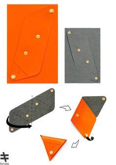 就像摺紙一樣有趣!Kiruna教你DIY皮革配件 – EVERYDAY OBJECT Leather Luggage Tags, Leather Gifts, Leather Pouch, Leather Craft, Leather Purses, Leather Accessories, Leather Jewelry, Couture Cuir, Wallet Pattern