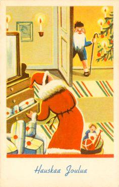 Joulukortti vuodelta 1941. #joulu #helsinki