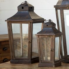 Pleasant Valley Candle Lantern, Set of 2