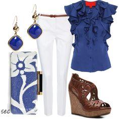 Royal Blue teacher outfit