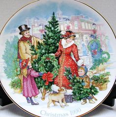 1990 christmas plate avon collectible bringing home christmas