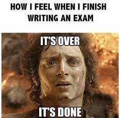 That's how I felt after my History exam.