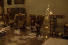diy wedding bouchon liege décoration table