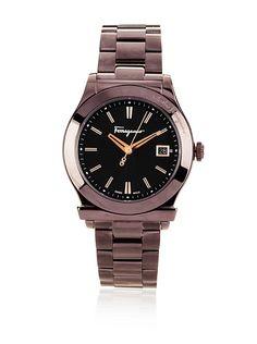 $1000 Ferragamo Men's F62LBQ6509 S065 Ferragamo 1898 Brown IP Date Watch at MYHABIT - http://myhabit.com/ref=qd_mr_per_l?refcust=R3RTILAGMXE7PZWNU6IYI4T2XM
