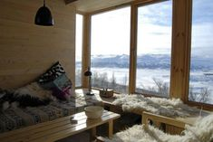 Inside the cabin with a view. Nice View, Shag Rug, Cottage, Windows, Architecture, Wallpaper, Interior, Room, Inspiration