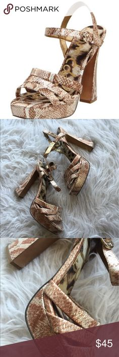 """🆕 Sam Edelman """"Taryn"""" pump Super cute! Fabulous condition. 👺NO TRADES DONT ASK! ✌🏼️Transactions through posh only!  😻 friendly home 💃🏼 if you ask a question about an item, please be ready to purchase (serious buyers only) ❤️Color may vary in person! 💗⭐️Bundles of 5+ LISTINGS are 5️⃣0️⃣% off! ⭐️buyer pays extra shipping if likely to be over 5 lbs 🙋thanks for looking! Sam Edelman Shoes Heels"""