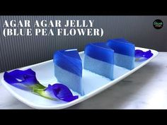 Learn how easy it is to make beautiful and delicious Butterfly Blue Pea Flower Agar Agar Jelly Butterfly Pea Flower, Butterfly Cakes, Coconut Desserts, Asian Desserts, Jelly Recipes, Tea Recipes, Vegan Jelly, Agar Agar Jelly, Green Tea Ice Cream