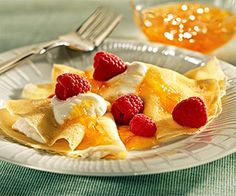 Plan a brunch around these delightful ricotta-filled crepes made with the season's fresh berries.