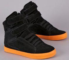 a46f2e84e5e6 Supra Society Black Suede Fluorescent Orange Shoe 3403! ....Finding it hard  not to buy these!