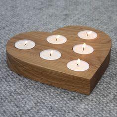 centrepiece heart tea light holder by a+b furniture | notonthehighstreet.com
