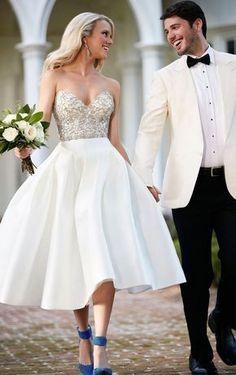 martina liana short ball gown wedding dress