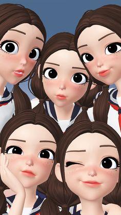 Cute Girl Wallpaper, Cartoon Wallpaper, Iphone Wallpaper, Hijab Cartoon, Meteor Garden, 3d Character, Miraculous Ladybug, Cute Wallpapers, Cute Girls