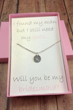 Will you be my bridesmaid gift set // Bridesmaid necklace // Be my bridesmaid gift // How to ask your bridesmaids