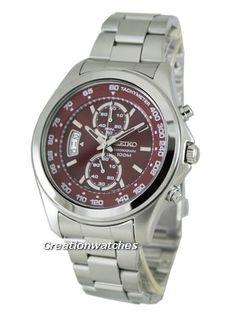 Seiko Quartz Chronograph SNN253P1 SNN253P SNN253 Mens Watch
