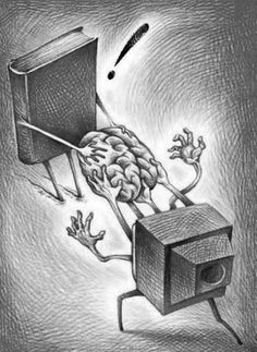 Save tour brain ! Don't watch Tv too much !