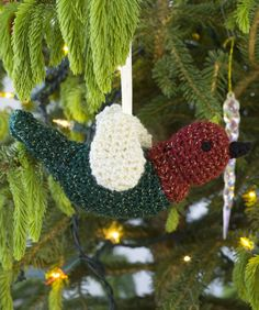 Crocheted Chirper Ornament - Great pattern easy to follow and turns out beautifully. :)
