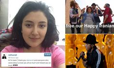 Iran frees students held for dancing to Pharrell Williams' Happy after singer speaks out over their ordeal | Mail Online / May 21, 2014 http://www.dailymail.co.uk/news/article-2636060/Iran-frees-students-held-dancing-Pharrell-Williams-Happy-singer-speaks-ordeal.html