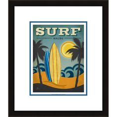 I pinned this Surf Malibu Wall Art from the Gorgeous Giftables event at Joss and Main!