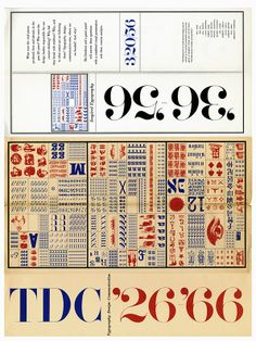 tervezőgrafika történet: TDC annual competition announcement, designed by Herb Lubalin with lettering by John Pistilli, 1966 | Courtesy of T...