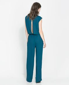 Image 3 of OPEN-BACK JUMPSUIT from Zara