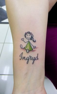 boneca palito Name Tattoo