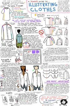 heysawbones: icarusicarus: OH GOSH! This is one of the most useful things I have ever come across since I always, ALWAYS draw in seams * O* (click-through) I wish this was a little less stylized, but still - what a wealth of information! Drawing Lessons, Art Lessons, Drawing Tips, Zentangle, Art Journal Techniques, Sketchbook Inspiration, Drawing Clothes, Doodle Drawings, Copics