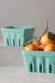 Ceramic Farmer's Market Baskets and other beautiful countertop storage ideas.