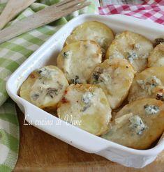 Patate gratinate al gorgonzola ricetta contorno o secondo ricco e gustoso