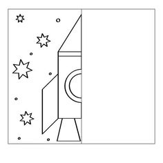 Finish the drawing symmetry worksheets - Symmetry Worksheets, Symmetry Activities, Space Activities, Preschool Learning Activities, Preschool Worksheets, Space Crafts For Kids, Space Preschool, Rocket Drawing, Space Classroom