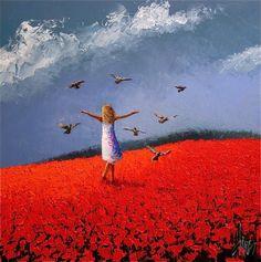 Dima Dmitriev: Girl with Pigeons