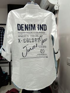 Mens Casual Shirt with printing details Stylish Shirts, Casual Shirts For Men, Men Casual, Screen Printing Shirts, Printed Shirts, Boys Kurta Design, Mens Work Pants, Mens Designer Shirts, Cotton Shirts For Men
