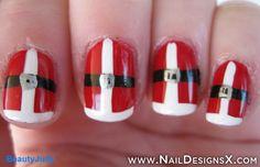 santa nail art - Nail Designs & Nail Art