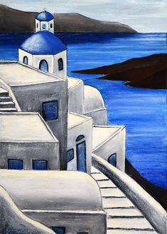 Painting Painting - Santorini Greece 4 by Dimitra Papageorgiou