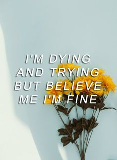 """""""But I'm lying, I'm so very far from fine..."""" Repin & Like. Listen to…"""