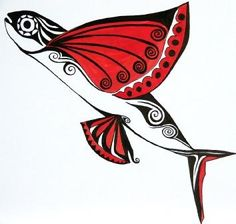 Flying fish art stock clip art icon stock clipart for Flying fish drawing