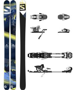Salomon N Q-98 skis with either N STH 10 B100 or N Guardian WTR 13L C100 binding...