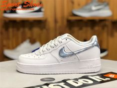c21843719b 2019 Buy Nike Air Force 1 Low 314219-131 Women Shoes White Silver