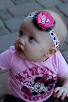 Minnie Mouse baby headband.  Could just make a clippie